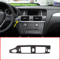 Carbon Fiber Style Center Console Air Conditioning Outlet Vent Frame Trim For BMW X3 F25 2012 2017 X4 F26 14 17 Car Accessories