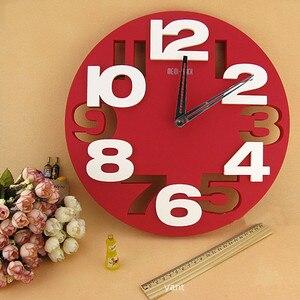 Большие цифры 3D круглые Настенные часы цифровые большие декоративные настенные часы современный дизайн короткие простые дешевые настенные часы для кухни