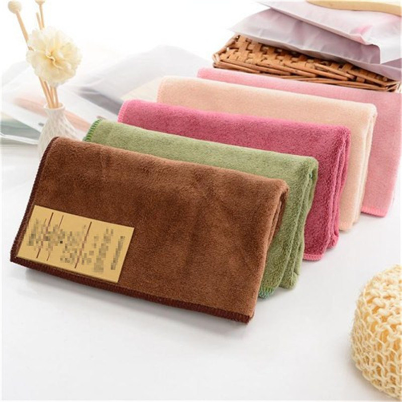 Solid Color Absorbent Bath Towel Microfiber Bathe Towel Soft Quick Drying Wash Face Towels Yoga Swimming Spa Adult Beach Towels in Bath Towels from Home Garden