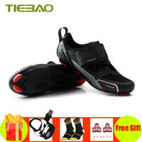 Tiebao road bike shoes Triathlon 2019 women men self-locking sapatilha ciclismo bicycle riding shoes breathable cycling shoes