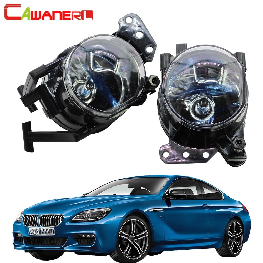 Cawanerl 2 X accessoires de voiture antibrouillard 100 W 9006 HB4 ampoule halogène DRL lampe de jour pour BMW E63 E64 650i 645Ci E83 X3