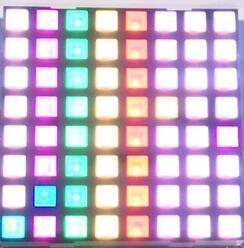 FREE SHIPPING 2PCS X 5MM 8X8 RGB 58.5*58.5mm Square LED Dot Matrix Digital Tube Module 2088RGB LED Display Module