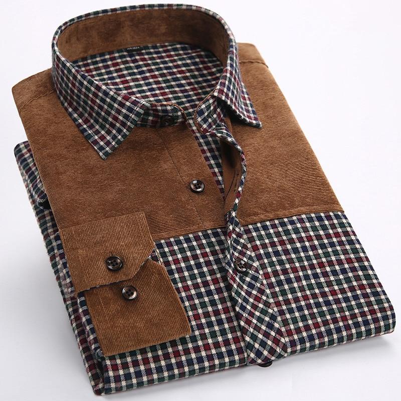 1facdc99a63 Мужская Фланелевая рубашка в клетку 100% хлопок ...