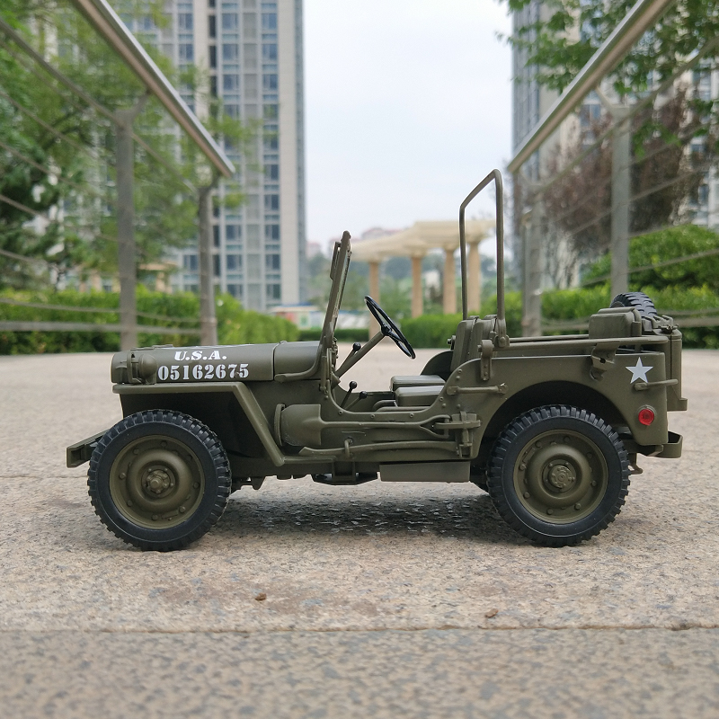 Welly 1 18 WWII Willis Jeep JEEP Simulated Alloy Off road Vehicle Model