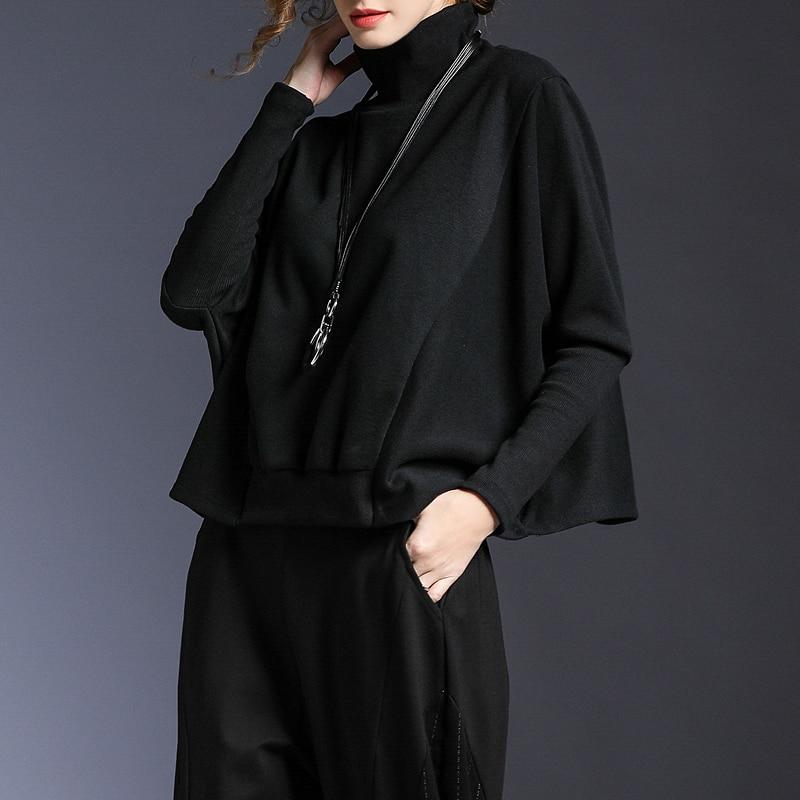 Pullover Wbb1402 Colore Delle gray Black Solido Modo Donne 2019 Felpa Wbb1402 Completa Europa Top Dolcevita Casual Manica hg Femminile Di Estate Primavera Del g1qxafAAw