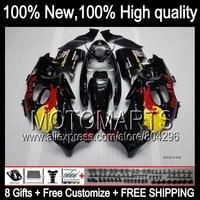 Bodys  Black red For SUZUKI KATANA GSXF600 98 99 00 01 02 #JK74 750F GSXF 600 750 1998 1999 Black yellow 2000 2001 2002 Fairing