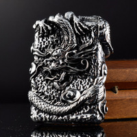 Luxurious ZORRO Vintage Kerosene Lighters Metal Heavy Armor Relievo Dragon Lighter Super Cool Gasoline Cigar Lighter Smoker Gift