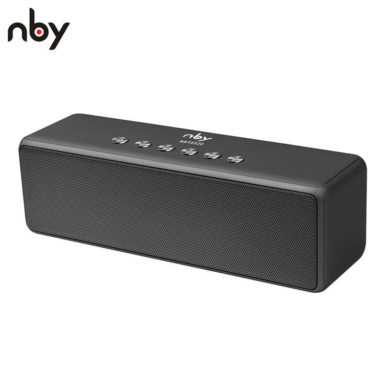 NBY 5520 Portable Bluetooth Speaker Subwoofer Speakers Wireless Speakers Sound System 3D Stereo Music Surround with Mic TF Card getihu portable mini bluetooth speakers wireless hands free led speaker tf usb fm sound music for iphone x samsung mobile phone