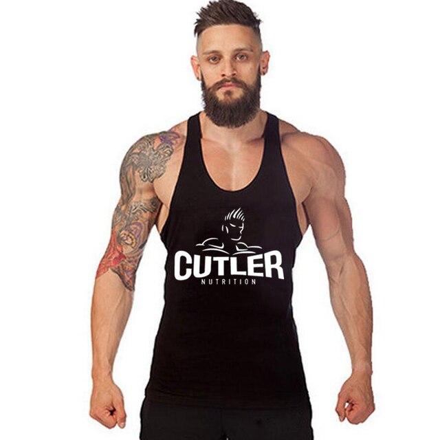 cfb7c7d5af4e7 Mens Clothing Bodybuilding Stringer Tank Tops Men Stringer Singlet Fitness  Sleeveless Workout Vest Cotton Y BACK Racer B-18