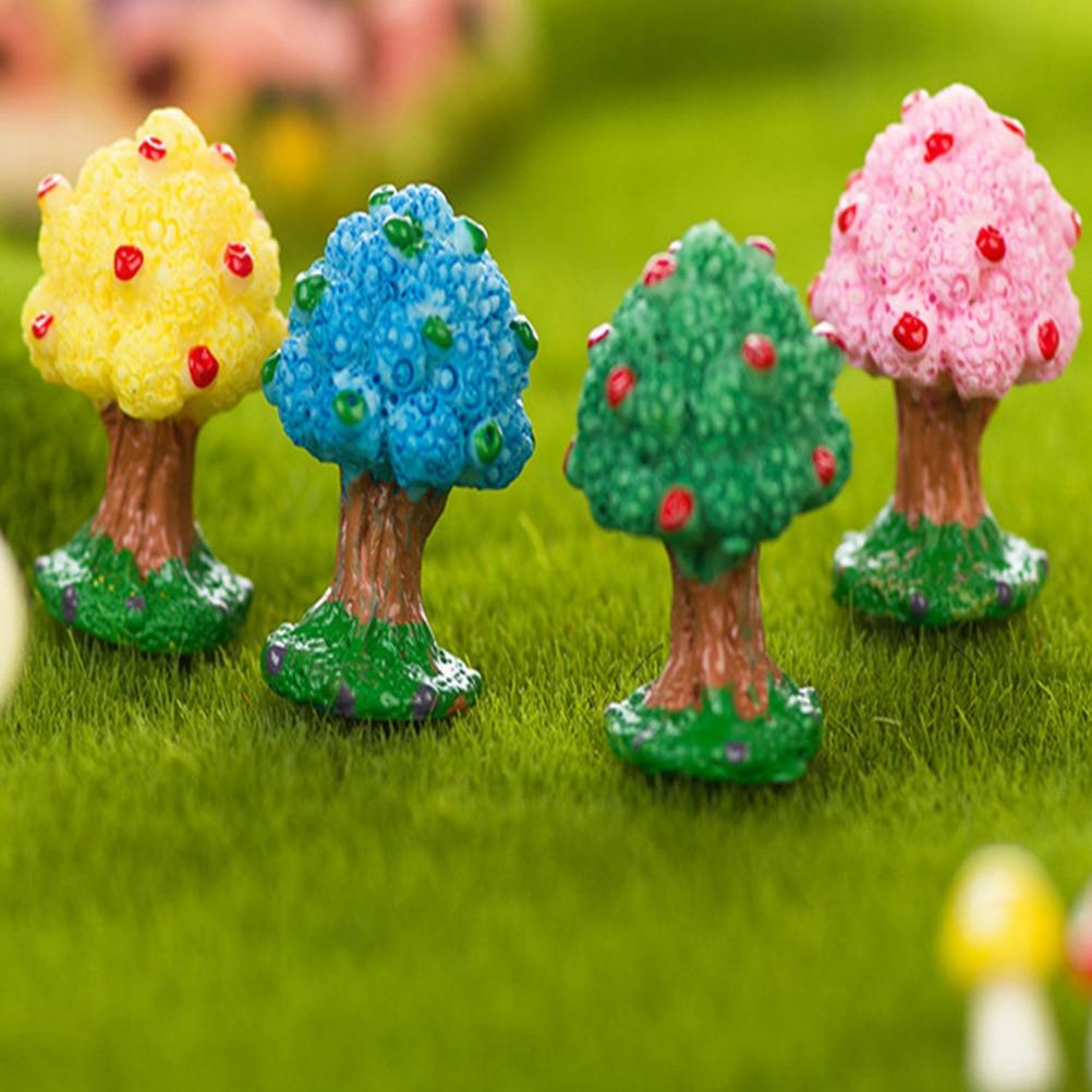 New 1PC Mini Apple Tree Resin Cabochon Resin Craft Miniatures Garden ...