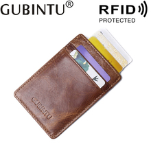 цены Small Bank ID Business Credit Men Card Holder Genuine Leather RFID Wallet Male Purse Protection Blocking Case For Cardholder Bag