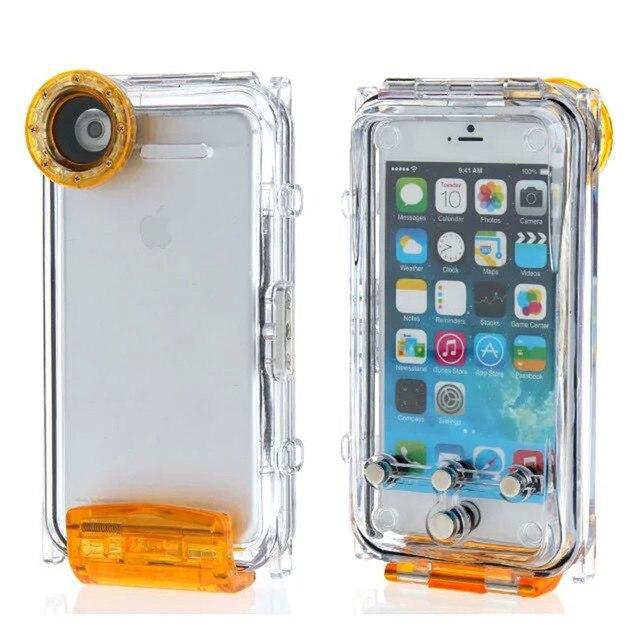Для iPhone 6 Plus 6 S Plus Спортивных Случае 40 М Дайвинг Водонепроницаемый Корпус Плавание Дрифтинг Плавающая Рафтинг Серфинг Случае