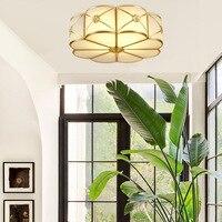 Полностью медный потолочный светильник американский ресторан исследование спальня крыльцо Творческий Ретро потолочный светильник освеще