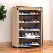 Простой стеллаж для обуви, пылезащитный шкаф для хранения обуви, многослойная небольшая полка для обуви, стойка для общежития, холла, сделай сам, Тканевый шкаф для обуви
