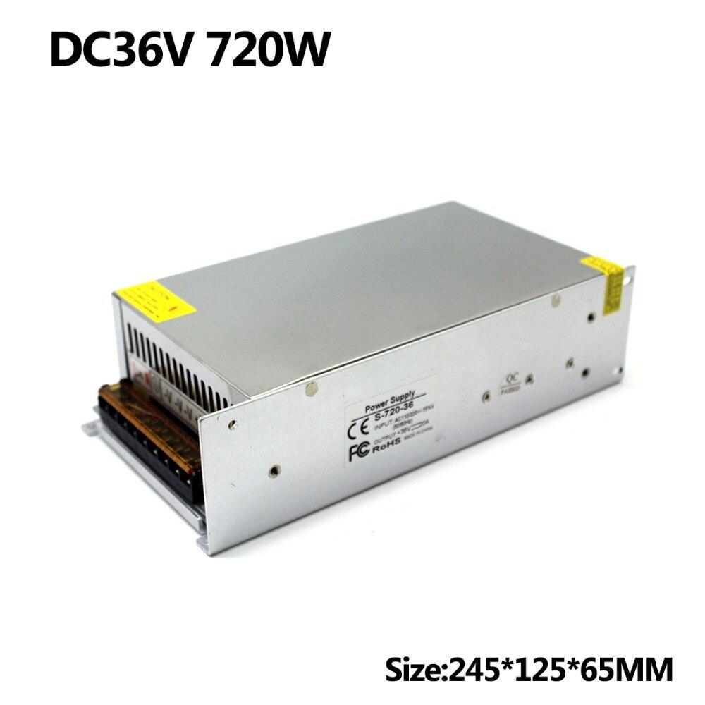 Power Supplies driver transformer 110v 220v AC to DC 36V 20A 720W Single Output Switching