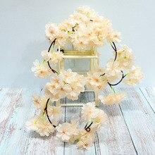 180cm Simulation Silk Flower Rattan Fake Flowers Artificial Cherry Blossom Persian Flower Vine Home Garden Wedding Decoration цена