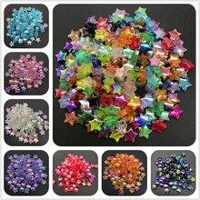 100 шт 11x4 мм акриловые бусины-разделители пятиконечная звезда прозрачные радужные цветные бусины для изготовления ювелирных изделий