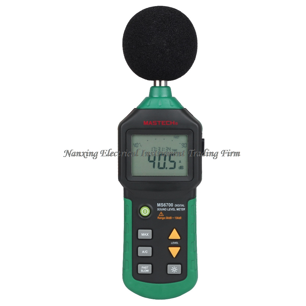 MASTECH Auto Range MS6700 Digital Sound Level Meter Decibel Noise Meter 30dB to 130dB With Clock and Calendar Function