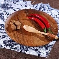 Natural Acacia Wood High Grade Fruit Tray Pallet Tea Tray Wooden Tableware Tea Tray