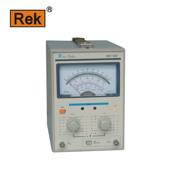 Merrick RVT 322 dual-channel AC millivoltmeter 300UV-100V dual-pin mV table 322 mV table  ac millivoltmeter rvt 322 measuring instrument withstand voltage tester pressure hipot tester resistance electronics parameter