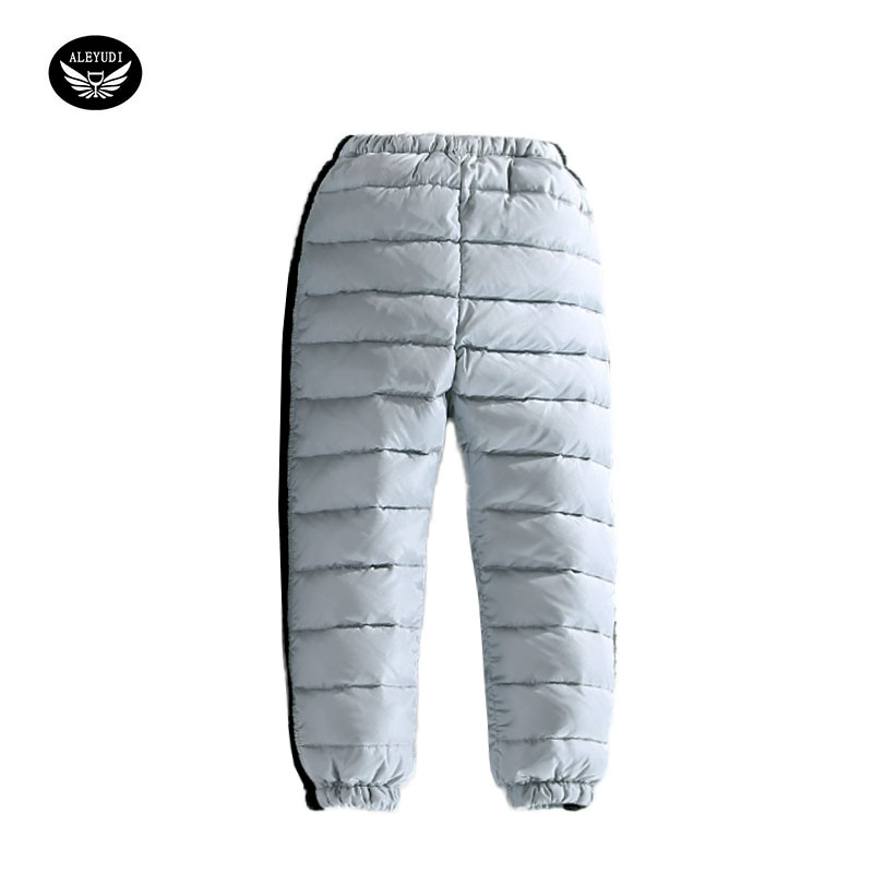 Children Winter Pants Boys Warm Cotton Pants For Girls Winter Warmth Down Unisex Trousers 5 Color winter down pants for boys