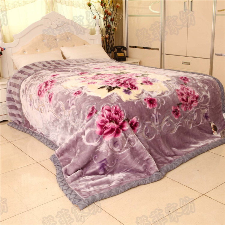 Chinese Style Winter Blanket Raschel Double Thick Wedding