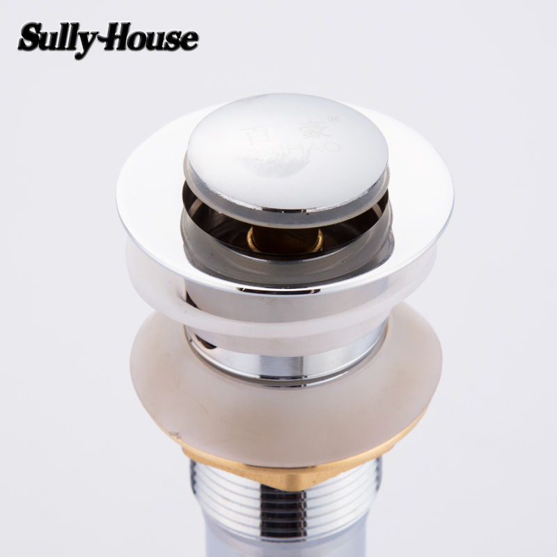 Sully House High Quality Bathroom Stainless Steel Springer Drain Strainers,Wash Basin Bounce Drainer Waterlet,Brass screw nut Sully House High Quality Bathroom Stainless Steel Springer Drain Strainers,Wash Basin Bounce Drainer Waterlet,Brass screw nut