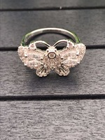 Hot brand pure 925 stelring silver jewelry big butterfly ring
