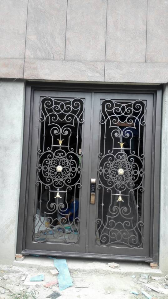 Custom design 72 x96wrought iron doors direct shipping to home hench-id8