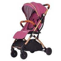 Высокая пейзаж детская коляска света зонтик может сидеть и лежал тележки складной портативный Багги Детские четыре колеса корзину