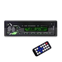 HEVXM 3077 Color Light MP3 Player  BT Car MP3 Player   Car Stereo Audio In dash Single 1 Din FM Receiver Aux Input