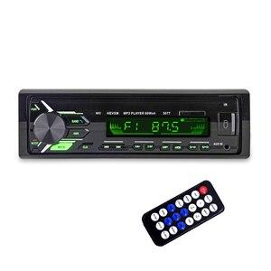Image 1 - HEVXM 3077 Color Light MP3 Player  BT Car MP3 Player   Car Stereo Audio In dash Single 1 Din FM Receiver Aux Input