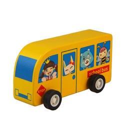 1 шт. деревянный мультфильм автомобиль скорой помощи Игрушки транспортные средства для маленьких детей школьный автобус красочный