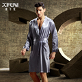 High Quality Men Bathrobe Imitation Silk Full Sleeve Male Robes Soft Embroidery V-Neck Sleepwear Silk Satin Casual Robe 3316