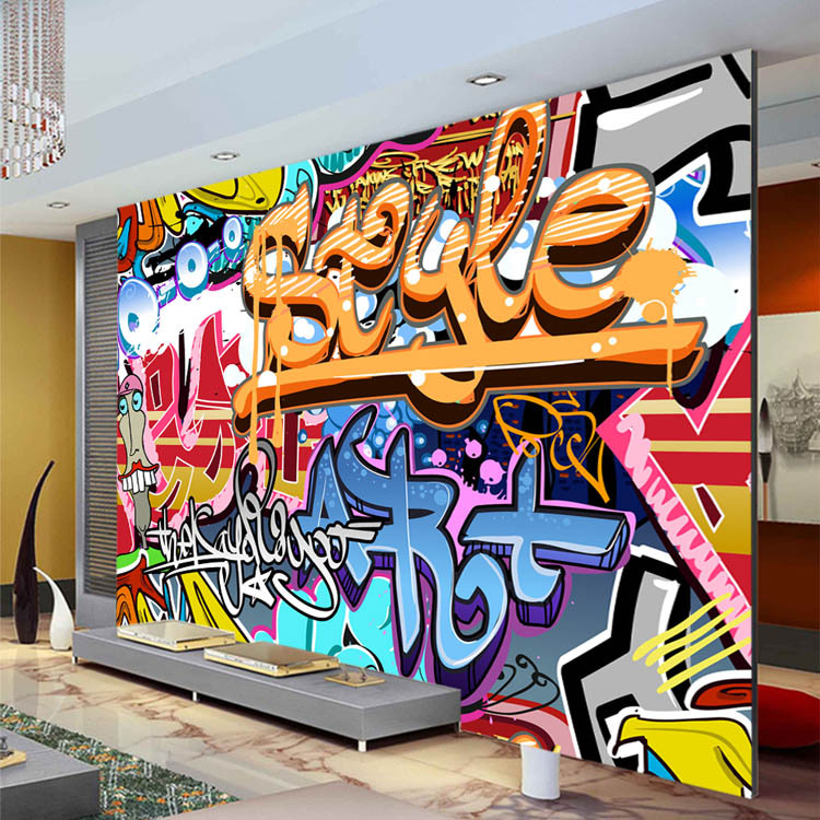 Wallpaper Custom Picture More Detailed Picture About Graffiti - Bedroom graffiti art for kids