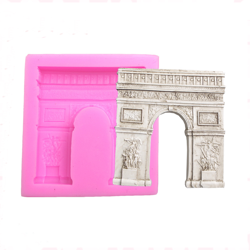 Luyou DIY Arc De Triomphe Shape Cake Decorating Tools Chocolate Baking Moulds Silicone Fondant Cake Mold FM1309