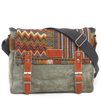 Vintage Ethnic Canvas Messenger Bag Women Chinese Style Shoulder Bag Female Casual National Bag Mujer Embroidery