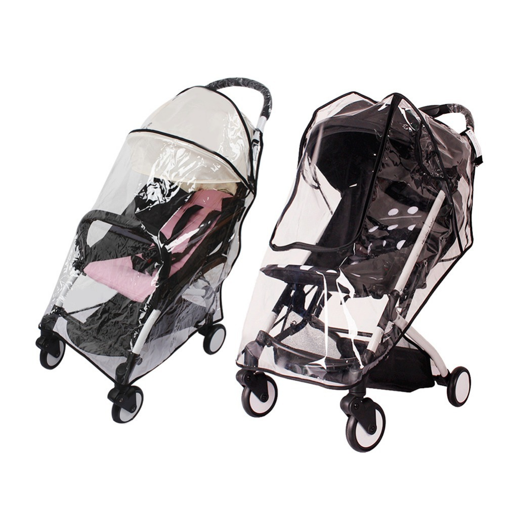 Baby Stroller Accessories Universal Waterproof Rain Cover Wind Dust Shield Zipper Open For Baby Strollers Pushchairs Mother & Kids Activity & Gear