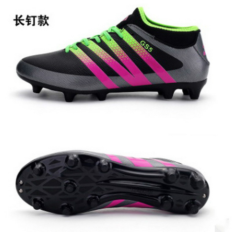Soccer Shoes High Ankle Kids 2018 New Children Football Shoes Spike AG Outdoor Training Cleats Superfly Sneakers For Boy цена