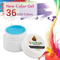 HNM 1pcs Pure Color Gel Extension UV Gel Nail Polish 5ml Nail Art Design 36 Color LED Lamp Soak off Gel Lak Gelpolish