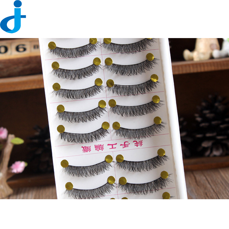 10 Pairs Makeup Handmade False Eyelash Black Eye Lashes Natural False Crisscross Thick Eyelashes Makeup Beauty