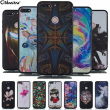Back Cover For Huawei Enjoy 8 Y7 Prime 2018 Case 3D Phone Housing Painting Soft Silicon TPU Case For Huawei Enjoy 8 Plus Y9 2018(China)