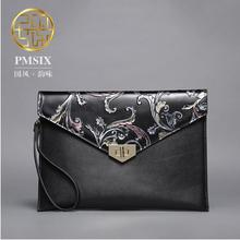 2016 New woemn leather bag famous brands fashion cowhide embossing envelope clutch bag chains women leather shoulder bag