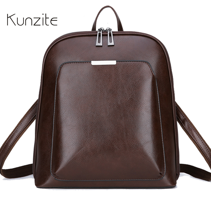 Vintage Backpack Female Brand Leather Women s backpack Large Capacity School Bag for Girl Leisure Shoulder