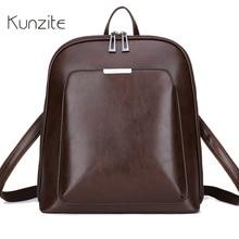 Vintage Backpack Female Brand Leather Women's backp