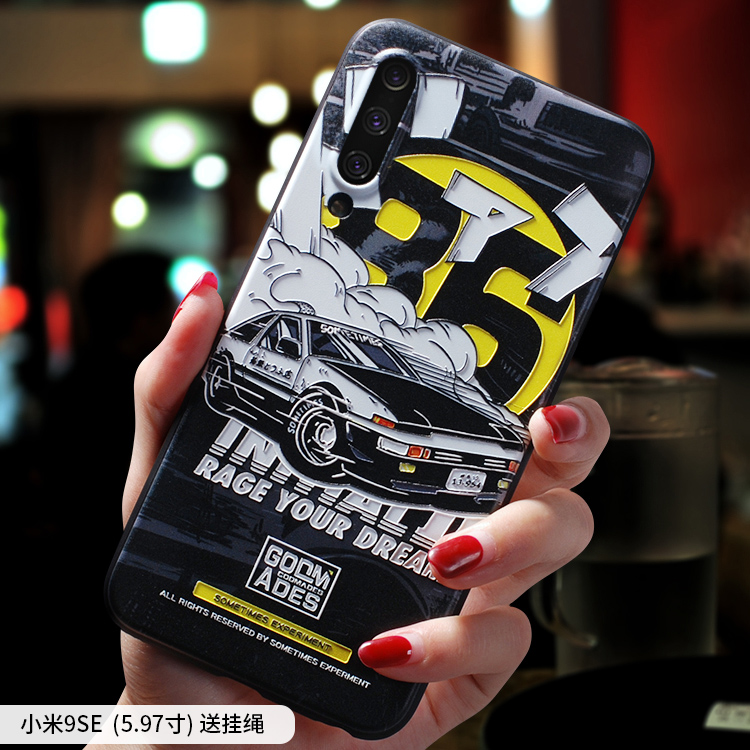 Image 4 - Initial D ,Moon Astronaut ,Smoking warning embossed Relief case For XIAOMI MI 9 MI9 MI9SE MI9 SE MI9Lite A3 CC9 case coverFitted Cases   -