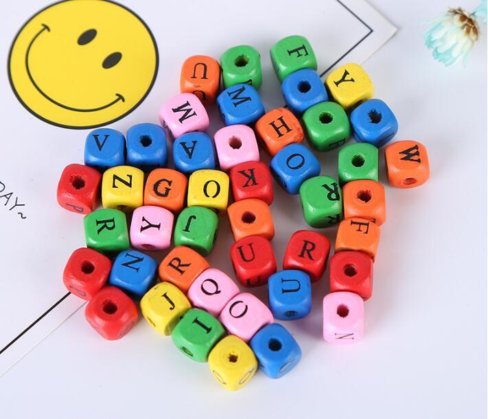 Art und Weise lose diy Quadrat Englisch / Russisch Alphabet Mix - Modeschmuck - Foto 3