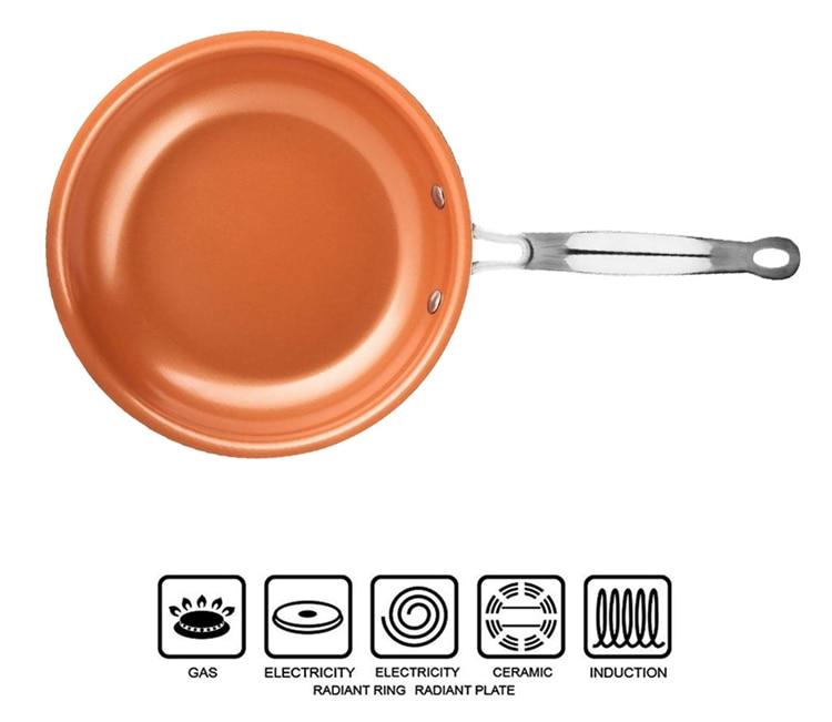Poêle antiadhésive en cuivre / Céramique Copper Pan Starlyf