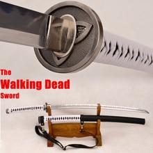Japanese Samurai Walking Dead Sword Hand Forged Zombie Michonne's Sharp Katana Swords Real Hamon Folded+1095 Steel Kobuse Blade