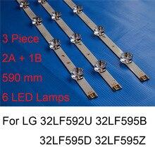Nova marca tira de luz de fundo led para lg 32lf592u 32lf595b 32lf595d 32lf595z reparação tv led backlight tiras bares um tipo b original